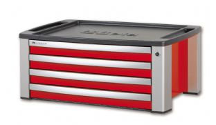 Beta C39T R Portable Tool Chest With Four Drawers (Red)